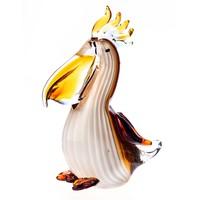 Különleges pelikán figura - Muranoi stílusú - dekoratív műalkotás