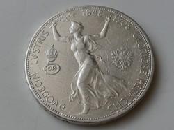 5 corona 1908 osztrák jubileumi VF