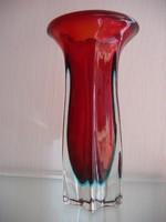 Gyönyörű sommerso váza (1950-60-as évek)