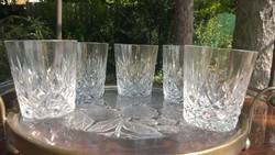 Whiskys-ásványvizes kristály pohárkészlet 5 db db-ra is !