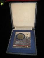 Magyar- Német Kerékpáros találkozó  1956 aug.23 sport plakett  92x105 mm + doboz