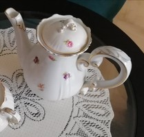 Zsolnay teás, kávés kiöntő, kancsó