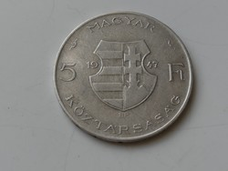 5 Forint 1947. ezüst VF 2