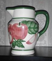 Gyümölcs mintás mázas porcelán kancsó
