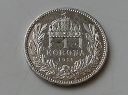 1 Korona 1915 KB ezüst EF 1