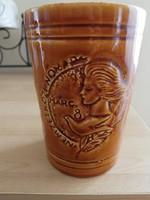 Régi gránit nőnapi pohár