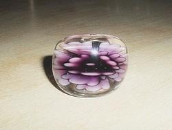 Valódi Muránói üveg ORCHIDEA  gyűrű 7-es
