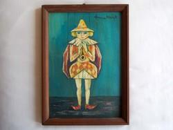 Anna Margit Mutatványos című festménye