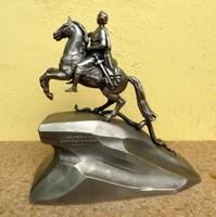 I.Péter Orosz cár lovasszobra
