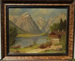 Olvashatatlan jelz. (20.sz.közepe): Alpesi táj