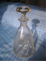 Biedermeier Vastag  Hántolt üveg, Csiszolt Dugóval leárazva