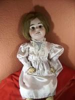 Nagy méretű Antik Porcelán fejű baba Armand Marseille