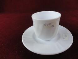 Harmónia spanyol porcelán kávéscsésze + alátét, hófehér.