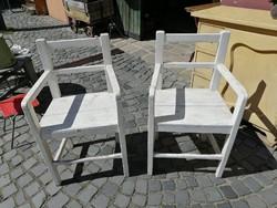 2 db. fenyő karfás szék