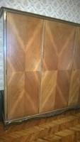 Neobarokk 3 ajtós szekrény-gardrób-igényes stílbútor 30-40-es évek-kiváló állapot