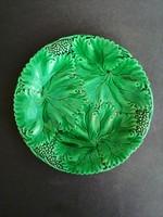 Zöld mázas majolika tányérok 2 db. - EP