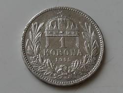 1 Korona 1915 KB ezüst aUNC 2