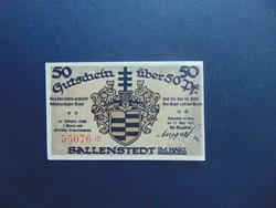 50 pfennig 1921 Sorszámos bankjegy