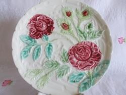 1900-as évek eleji majolika  tányér