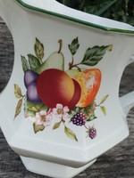 Gyümölcs mintás porcelán kiöntő