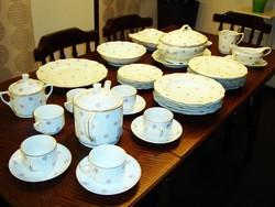 Antik porcelán étkészlet 35 részes