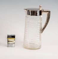 Ezüst tetejű art deco vizeskancsó / kiöntő