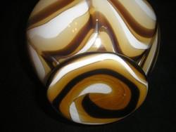 Muránói Váza,OPALINE Florence Gyönyörű Formájú és Színű 24-cm leárazva hibátlan