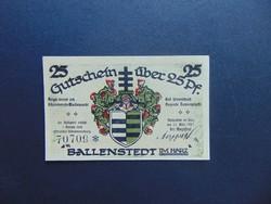 25 pfennig 1921 sorszámos bankjegy