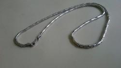 Ezüst nyaklánc, különleges henger alakú 925 ös