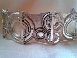 Art deco ezüst karkötő 65.3 gr.