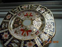 Royal Crown Derby antik opulensen aranyozott  IMARI mintás tál ÚJSZERŰ