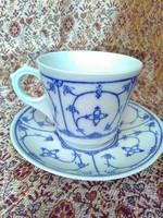 Jäger, indisch blau mintás kávéscsész aljjal