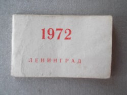 Képes mini-naptár Leningrádból 1972