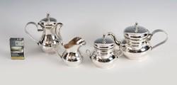 Ezüst kézzel kalapált kávés/teáskészlet