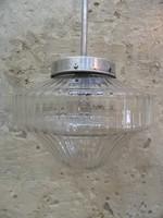 Eredeti art deco / bauhaus mennyezeti üveg lámpa