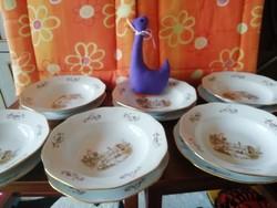 19117A Bohemia csehszlovák porcelán 12 darabos tányér készlet