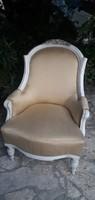 Antik barokk provence kisasszony fotel