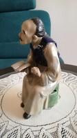 Kínai bölcs mázas kerámia figura 20 cm