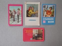 Kártyanaptárak a Szovjetunióból (70-es évek)