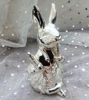 Jelzett ezüstözött nyúl persely Beatrix Potter, Peter Rabbit