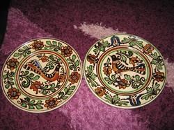 Korondi, Máthé  tányér,  2 db, madaras A 1-2.