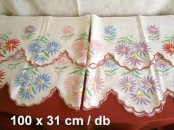4 db kézzel hímzett margaréta mintás polc csík polccsík 100 x 31 cm / 1 db