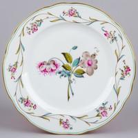 ANTIK Herendi tányér virágmintával, 1910