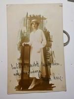 Művész fotó , kalapos hölgy  1918