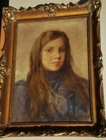 Szirmai Antal (1860 – 1927) - Lányportré