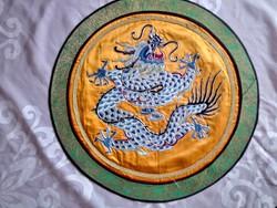 Kínai sárkányos selyemkép
