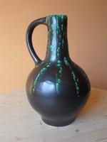 Különleges nagy korsó, lávaszerű mázzal (29 cm)
