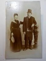 Antik fotó ,  Házaspár  , Pollák Ernő