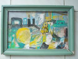 Kondor Béla Vasutassztrájk című festménye