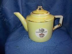 Antik zsolnay braun testvérek reklám likőr teás kanna kiöntő